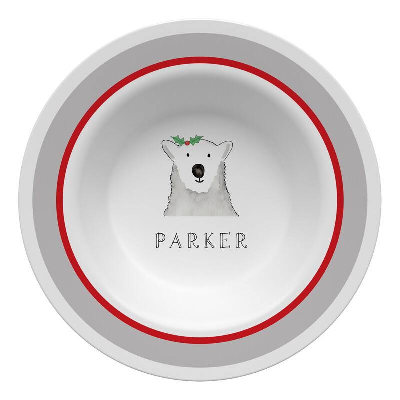 Polar Bear Tabletop Collection - Bowl - Personalized