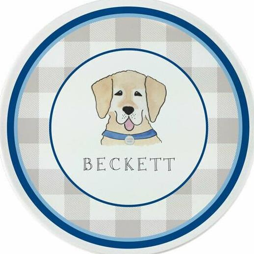 Happy Tails Dog Tabletop Collection - Plate - Personalized