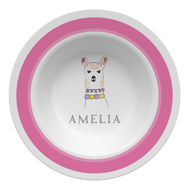 Llama Love Tabletop - Bowl - Personalized