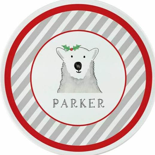 Polar Bear Tabletop Collection - Plate - Personalized
