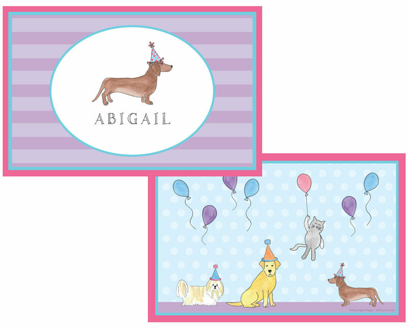 Party Animals Plate Set - Placemat