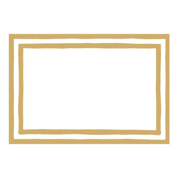 Gold Border Place Cards