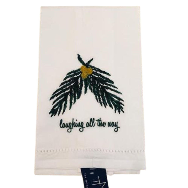 Laughing All The Way Guest Towel
