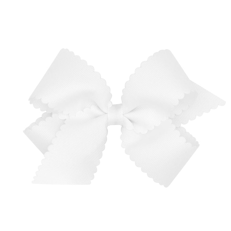 Scallop Grosgrain Hair Bow