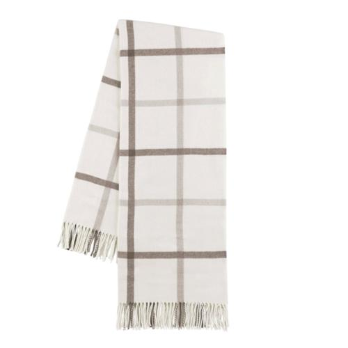 Plaid Throw Blanket - Monogram or Personalize - Dune