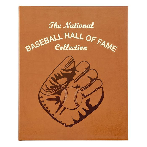 National Baseball Hall of Fame Leather Bound Book