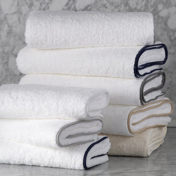 Monogrammed Matouk Cairo Towel With Straight Piping
