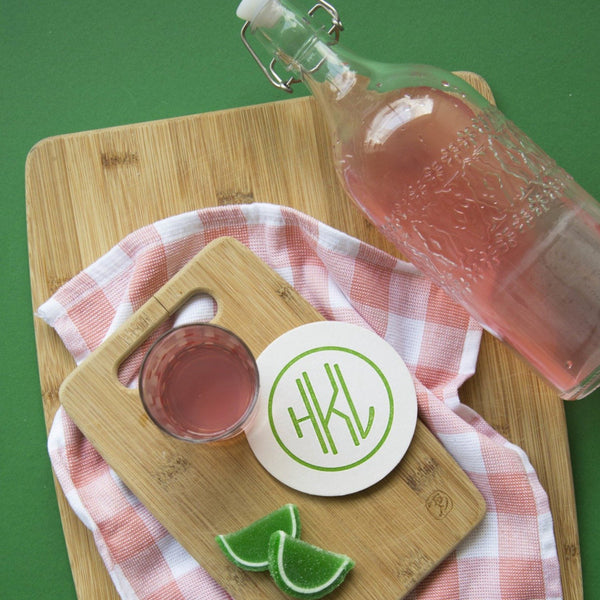 Monogrammed Disposable Letterpress Coasters