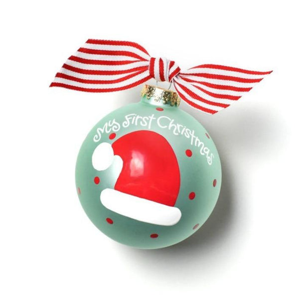 My First Christmas Hat Boy Ornament - Personalize