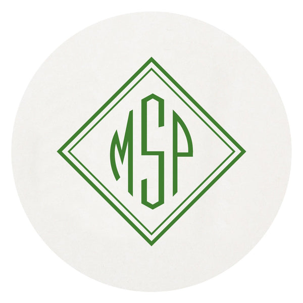 Point Monogrammed Disposable Letterpress Coasters