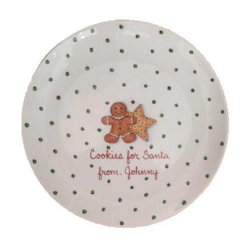 Hand painted Cookies for Santa plate - personalized