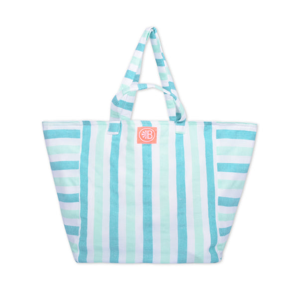 Double Handle Stripe Beach Bag - El Mario