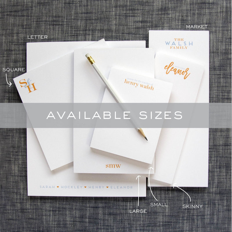 M186 Personalized Notepads