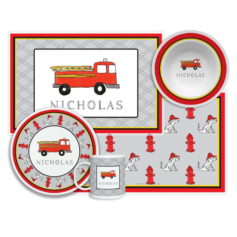 Firetruck Tabletop Collection - Set of 4 - Personalized