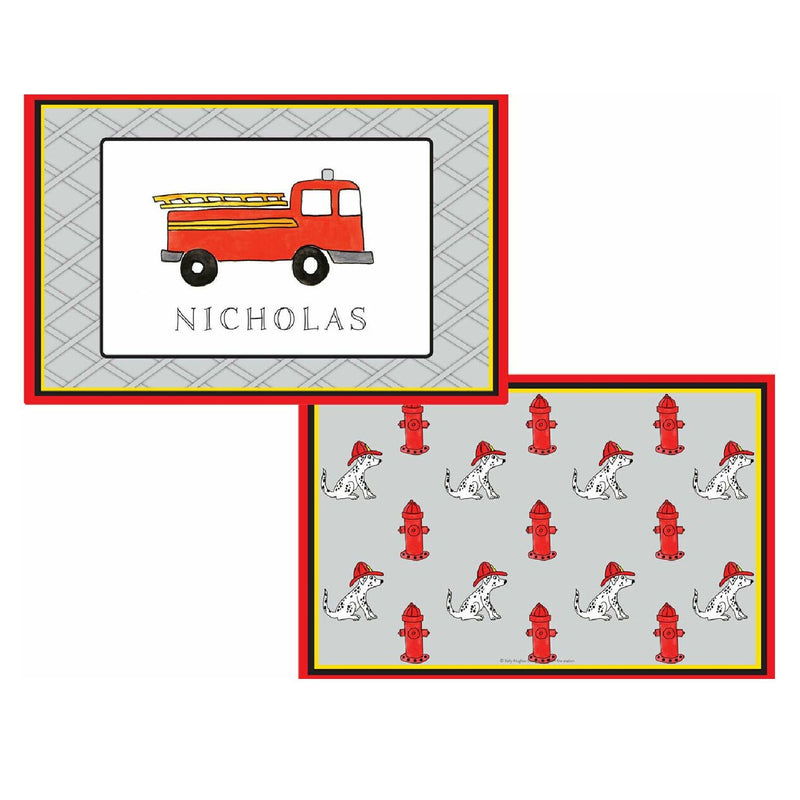 Firetruck Tabletop Collection - Placemat - Personalized