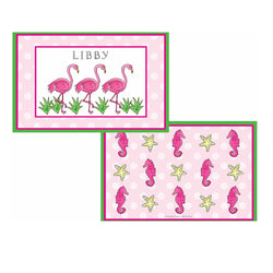 Flamingo Fun Tabletop - Placemat - Personalized
