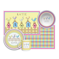 For the Birds Tabletop - 4-piece set - Personalized