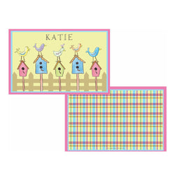 For the Birds Tabletop - Placemat - Personalized