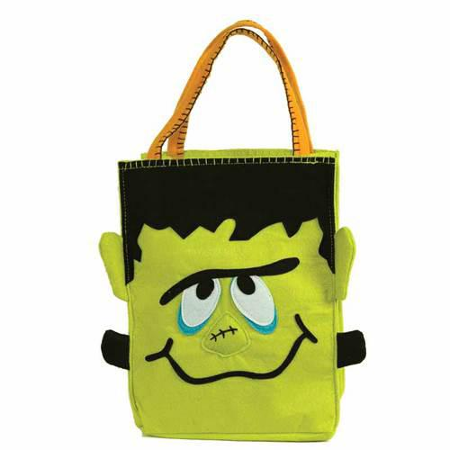 Personalized Trick or Treat Felt Bags - Frankenstein