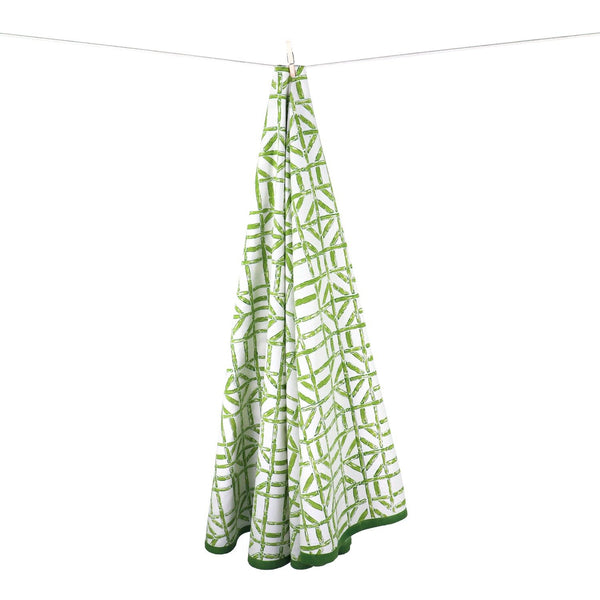 90-inch Round Bamboo Tablecloth - Green