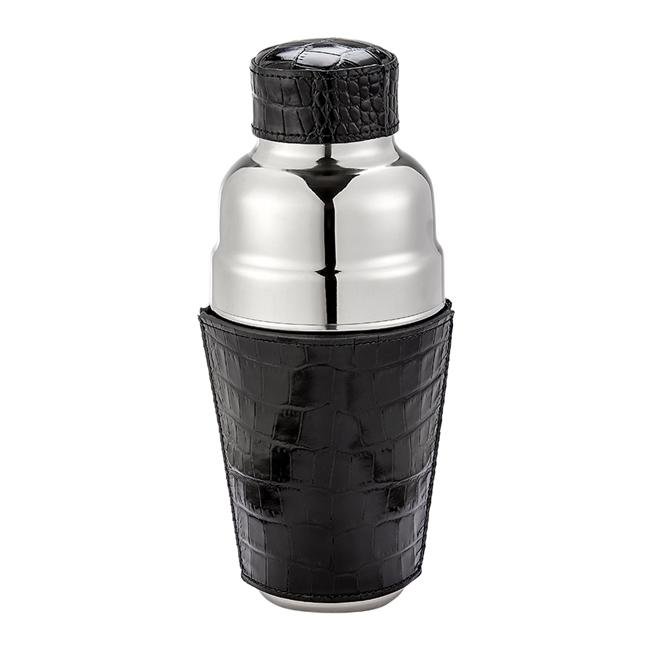 Leather Cocktail Shaker - Black