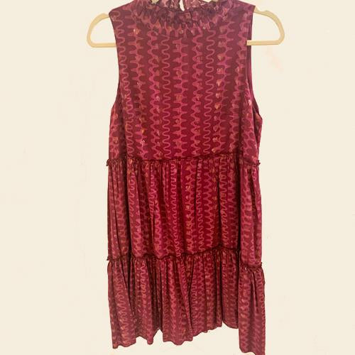 Wine Nomad Sleeveless Short Dress