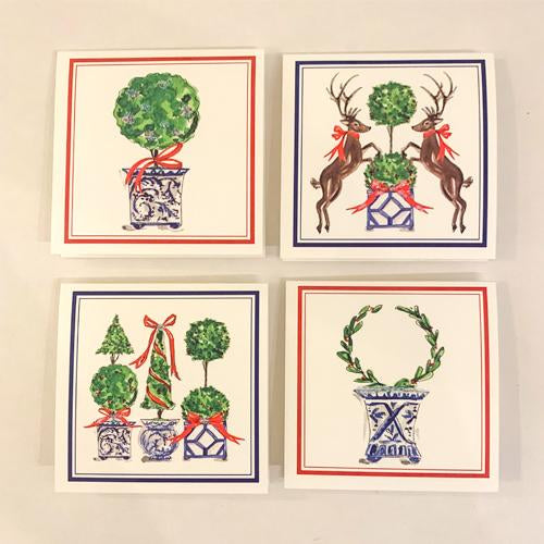 Christmas Gift Enclosure Cards - Christmas Topiaries