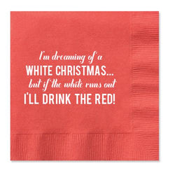 Dreaming of a White Christmas Paper Cocktail Napkins