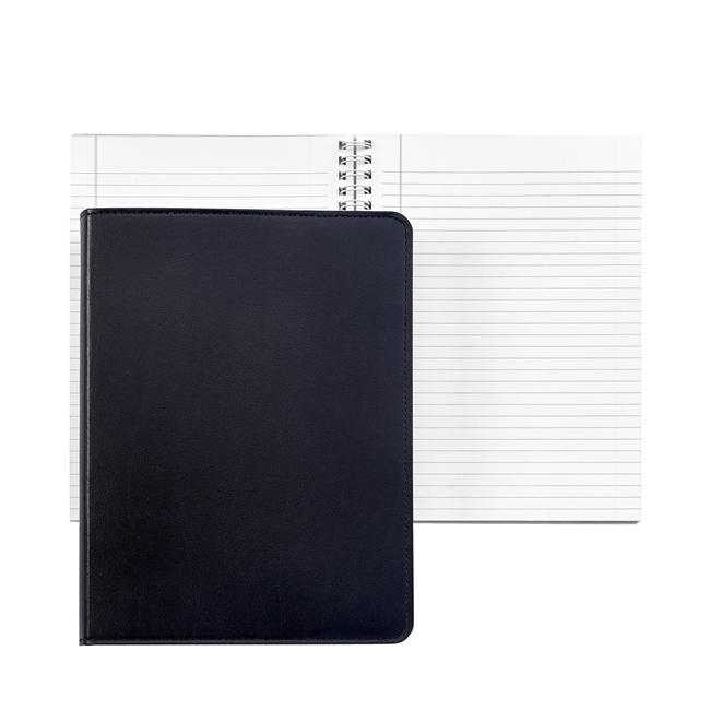 9-inch Wire-O Notebook, Black Leather
