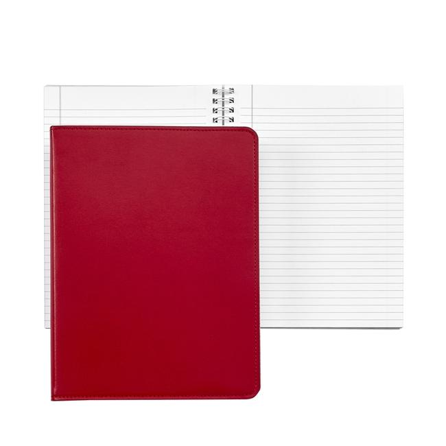 9-inch Wire-O Notebook, Red Leather