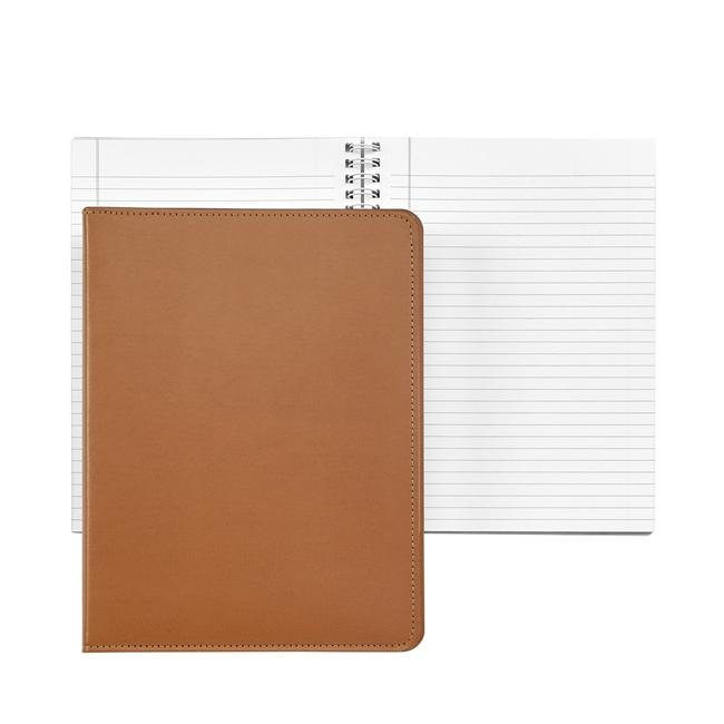 9-inch Wire-O Notebook, Tan Leather