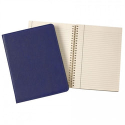 9-inch Wire-O Notebook, Indigo Goatskin Leather