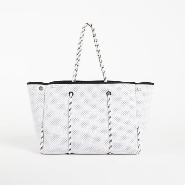 Neoprene Everything Tote - White - Personalize