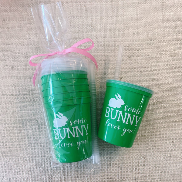 Kids Green Easter Cups