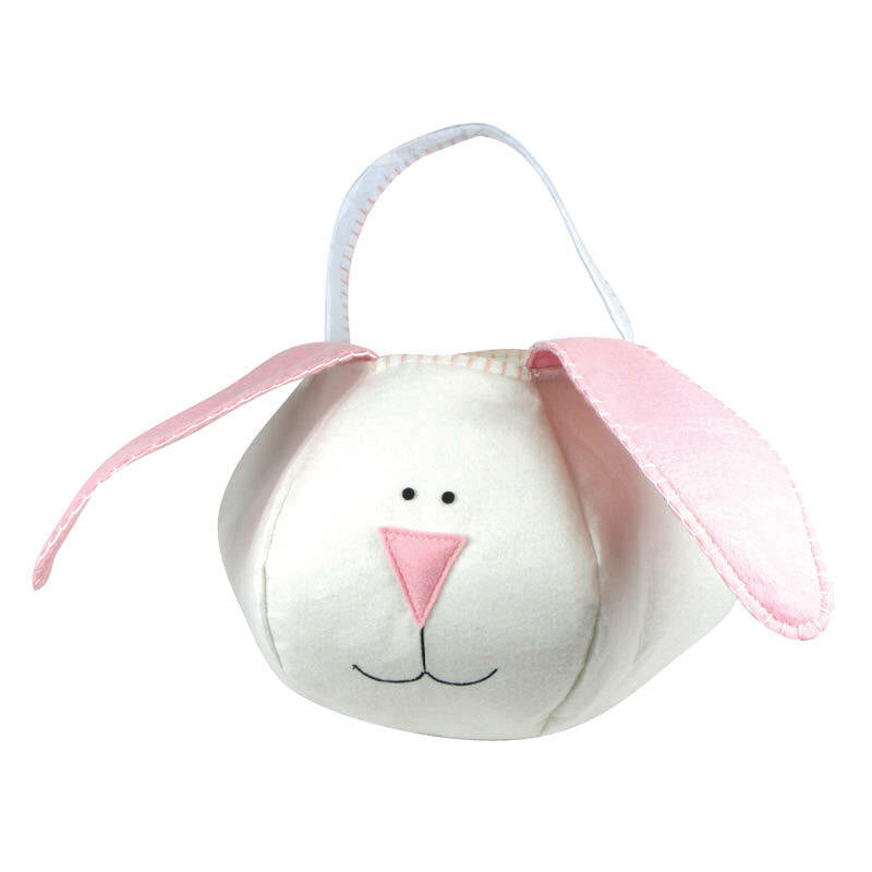 Loppy Eared Easter Bunny Basket Pink