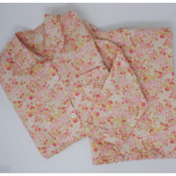 Liberty Long Pajamas - Pink Floral