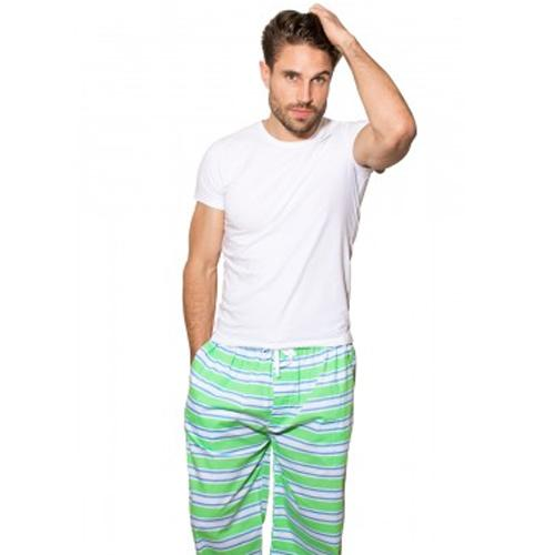 Green & Blue Pajama Pants - Monogram or Personalize