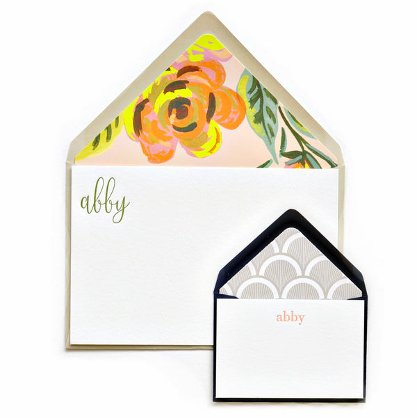 Abby Stationery Note & Enclosure Cards