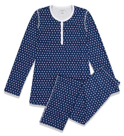 Roller Rabbit Navy Heart Pajamas
