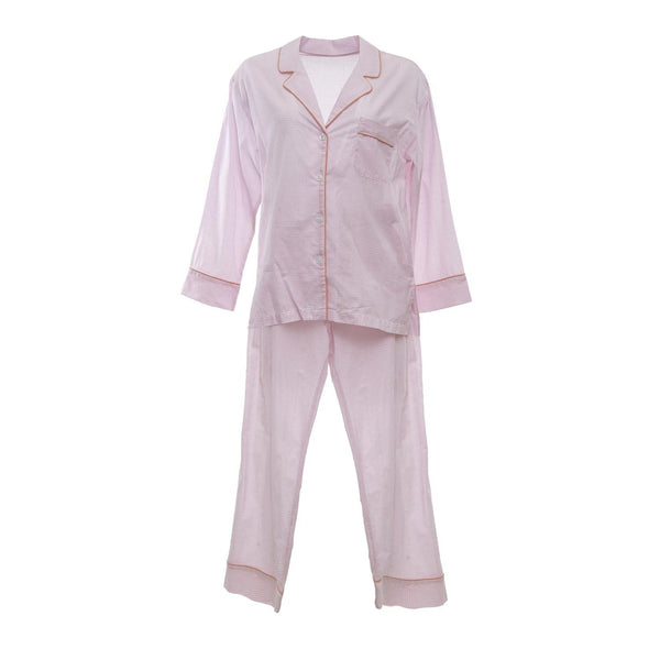 Pink Gingham Long Pajamas - Monogram or Personalize