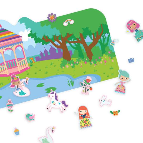 Princess Reusable Sticker Scenes - Samples