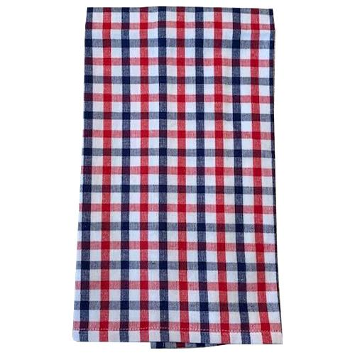Red, White & Blue Plaid Hand Towel