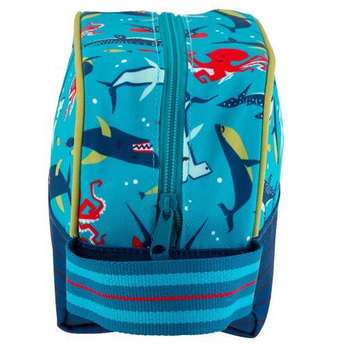 Printed Children's Dopp Kit - Sharks
