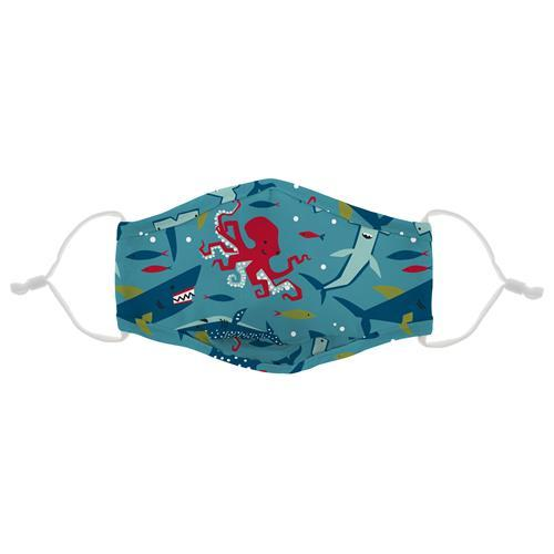 Adjustable Child's Printed Face Mask - Sharks - Can be Personalized