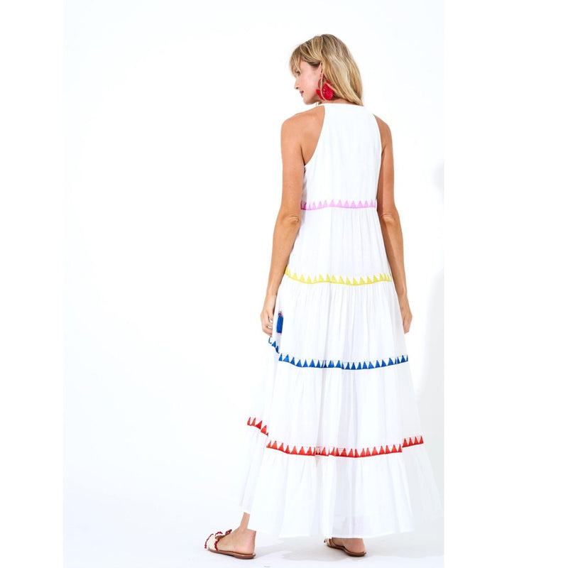 Salsa Long Tiered Dress - Back View