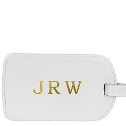 Monogrammed Amelia Leather Luggage Tag