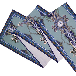 Blue Bush Bandits Table Runner