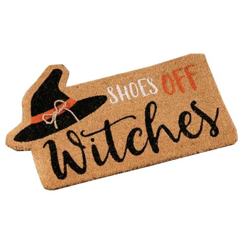 Halloween Doormat - Shoes Off Witches