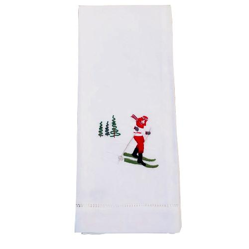 Skier Guest Towel - Red