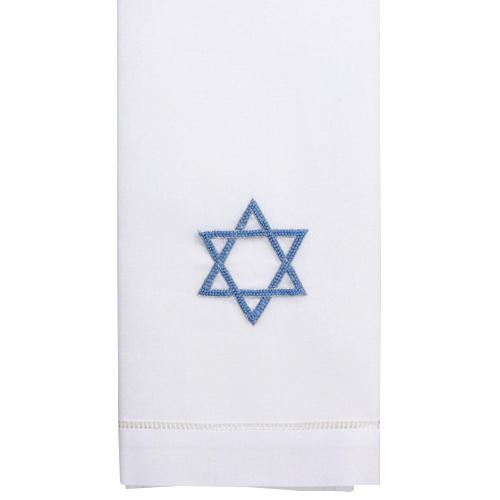 Blue Star of David Guest Towel